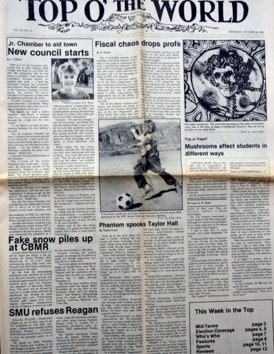 Top o' the World newspaper from 1980s