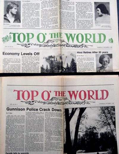 Top o' the World newspapers from 1980s